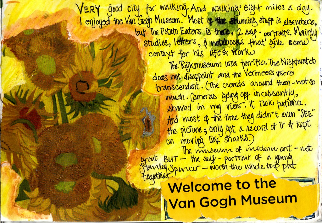 Van Gogh museum Amsterdam Illustrated Journal pages