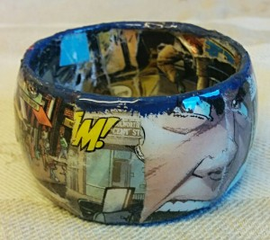 Altered Comic Book Jewelry