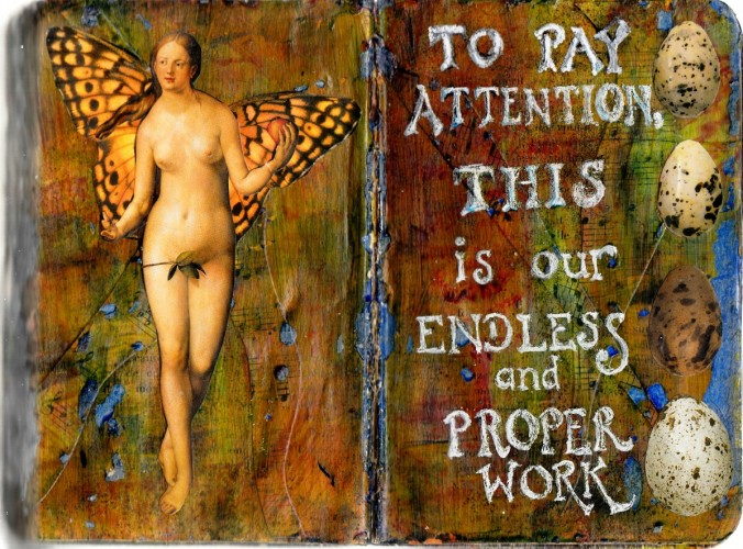 To Pay Attention - Altered Books