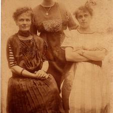 Vintage fashion cabinet photo, 19th century