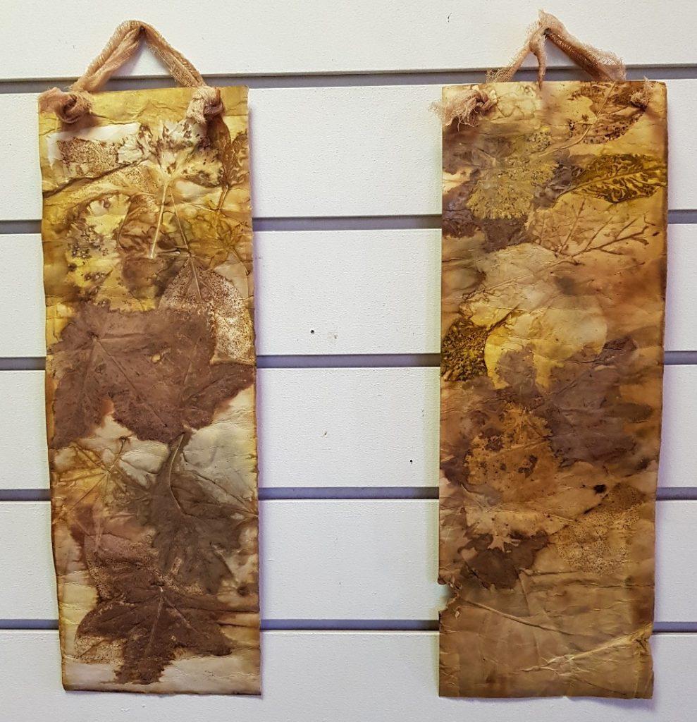 Eco prints on paper