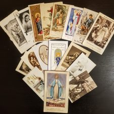 Vintage holy cards