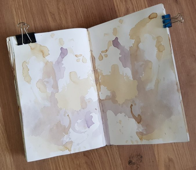 Tea and Coffee Stained Journal pages