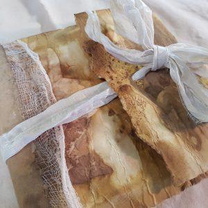 handmade journal with ecoprint